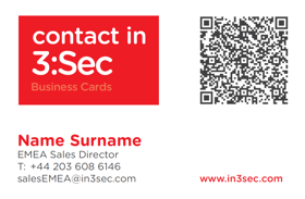 Qr business card business card with qr code design 3sec 3 qr code reheart Image collections
